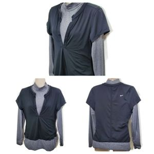 Nike Golf Layered Dri - Fit Top Size Small